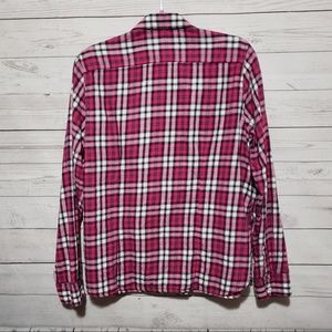 9fd667bd873 American Eagle Outfitters Tops - American Eagle Pink Plaid Button Shirt XL
